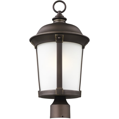 Calder One Light Outdoor Post Lantern Antique Bronze