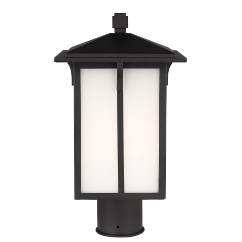 Tomek One Light Outdoor Post Lantern Black Bulbs Inc