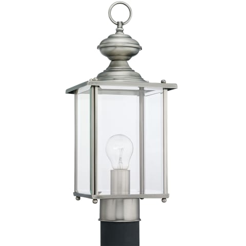 Jamestowne One Light Outdoor Post Lantern Antique Brushed Nickel