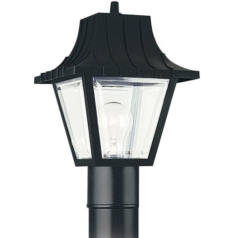 One Light Outdoor Post Lantern Clear