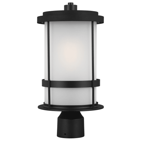 Wilburn One Light Outdoor Post Lantern Black