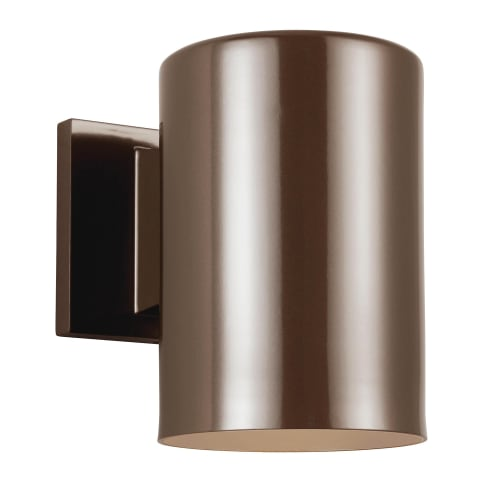 Outdoor Cylinders One Light Outdoor Wall Lantern Bronze Bulbs Inc