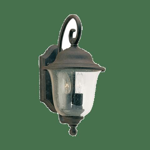 Trafalgar Two Light Outdoor Wall Lantern  Oxidized Bronze Bulbs Inc
