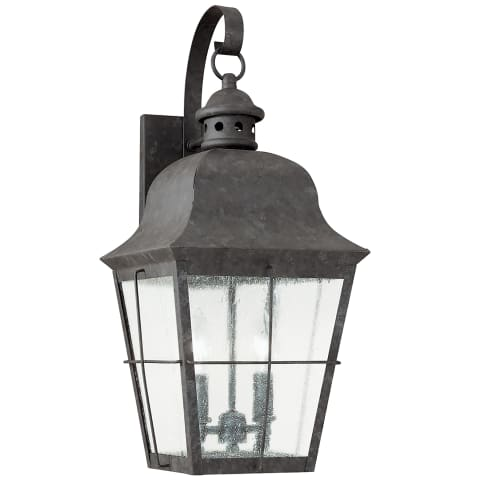 Chatham Two Light Outdoor Wall Lantern Oxidized Bronze