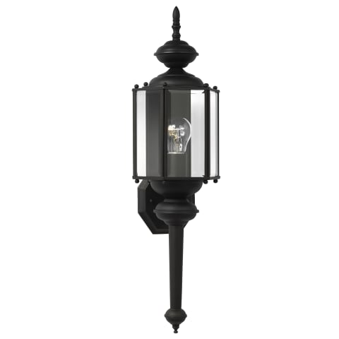 Classico One Light Outdoor Wall Lantern Black