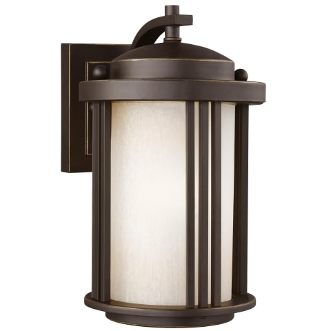 Crowell Small One Light Outdoor Wall Lantern Antique Bronze