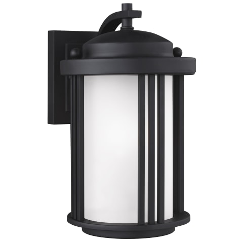 Crowell Small One Light Outdoor Wall Lantern Black Bulbs Inc