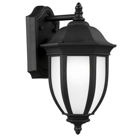 Galvyn Medium One Light Outdoor Wall Lantern Black Bulbs Inc