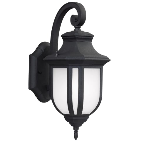 Childress Medium One Light Outdoor Wall Lantern Black Bulbs Inc