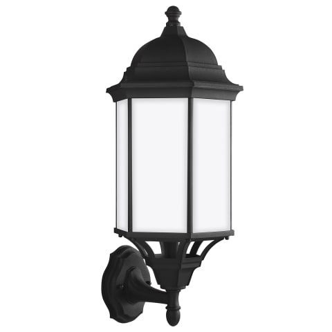 Sevier Large One Light Uplight Outdoor Wall Lantern Black