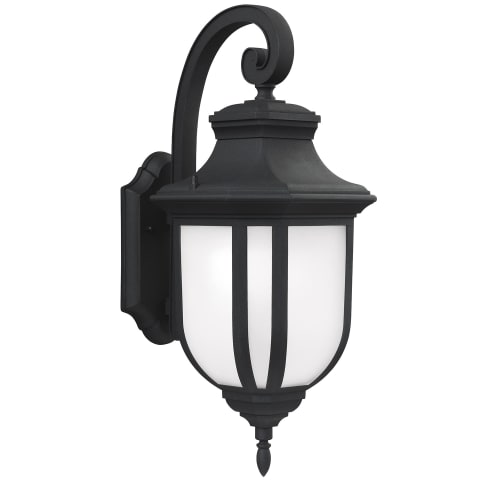 Childress Large One Light Outdoor Wall Lantern Black Bulbs Inc
