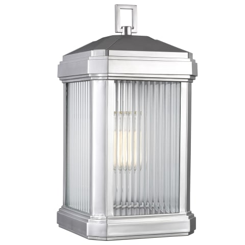 Gaelan Large One Light Outdoor Wall Lantern Painted Brushed Nickel Bulbs Inc