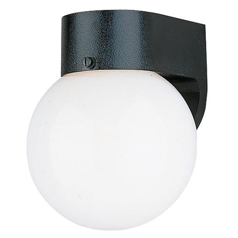 One Light Lantern Black