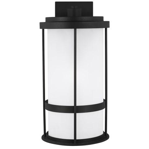 Wilburn Large One Light Outdoor Wall Lantern Black Bulbs Inc