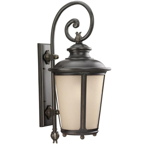 Cape May  Extra Large One Light Outdoor Wall Lantern Burled Iron Bulbs Inc