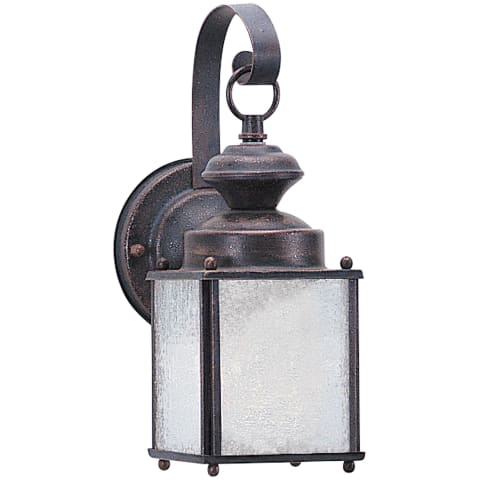 Jamestowne One Light Outdoor Wall Lantern Textured Rust Patina Bulbs Inc