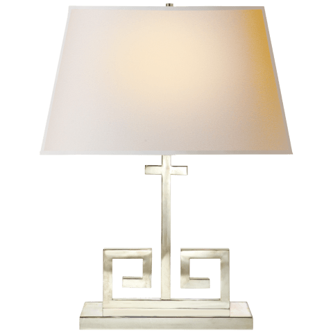 Kate Table Lamp in Polished Nickel with Natural Paper Shade