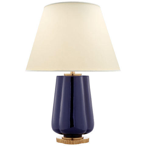Eloise Table Lamp in Denim with Natural Percale Shade