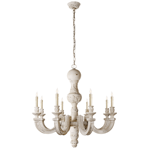 Dexter Large Chandelier in Belgian White