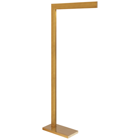 Lecce Pharmacy Floor Lamp in Hand-Rubbed Antique Brass