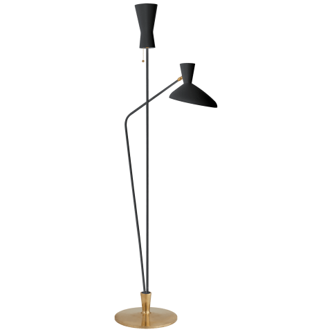 Austen Large Dual Function Floor Lamp in Black