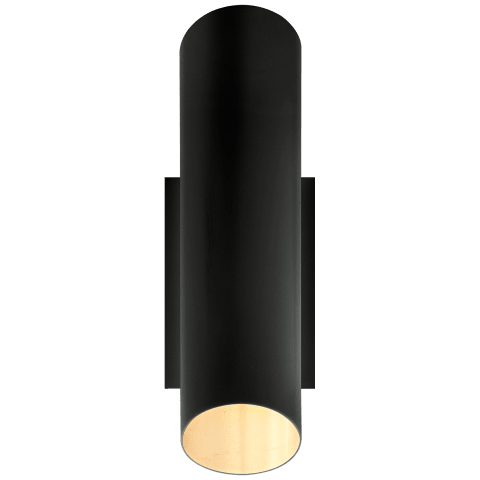 Tourain Wall Sconce in Black with Gild Interior