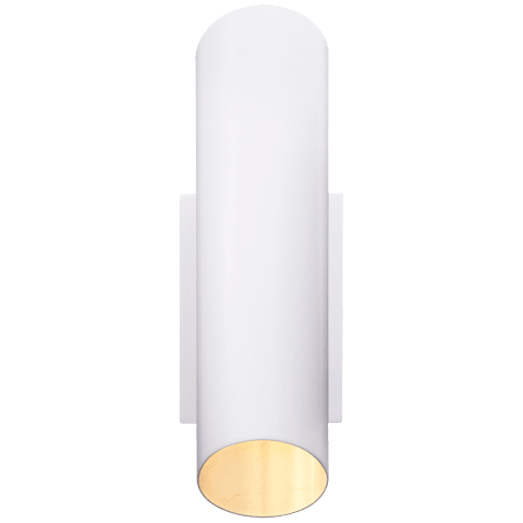 Tourain Wall Sconce in Plaster White with Gild Interior