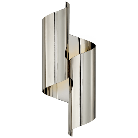 Iva Medium Wrapped Sconce in Polished Nickel