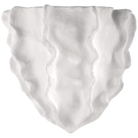 Benit Small Wall Washer in Plaster White