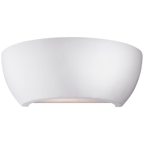 Arvour Medium Wall Washer in Plaster White with Frosted Acrylic