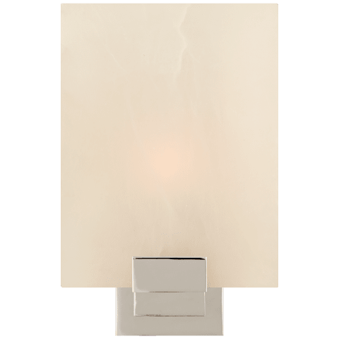 Henson Single Sconce in Polished Nickel with Alabaster