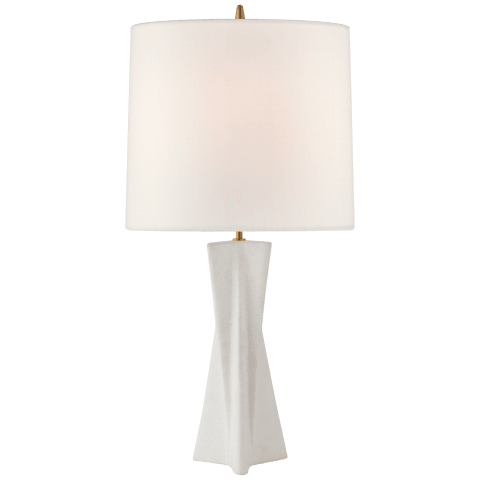 Gretl Large Table Lamp in Marion White with Linen Shade