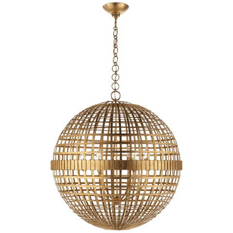 Mill Large Globe Lantern in Gild