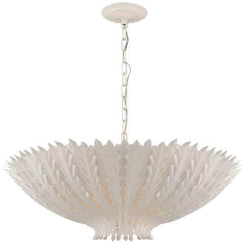 Hampton Large Chandelier in Plaster White