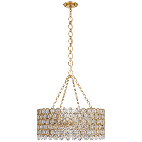 Lesina Chandelier in Gild with Crystal