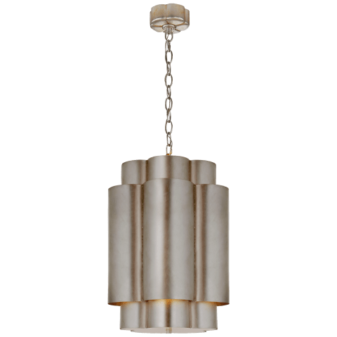 Arabelle Tall Hanging Shade in Burnished Silver Leaf