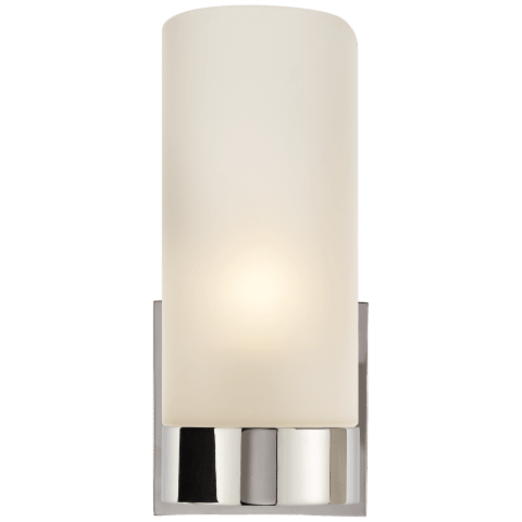 Urbane Sconce in Polished Nickel with Frosted Glass