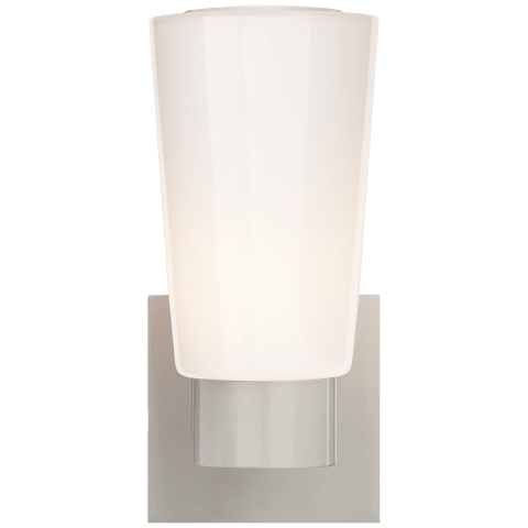Acme Sconce in Gray with White Glass