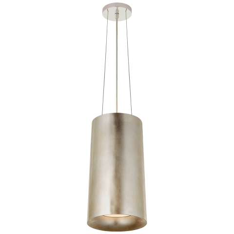 Halo Tall Hanging Shade in Burnished Silver Leaf