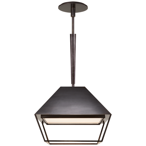 Odeum Small Lantern in Bronze with Frosted Acrylic Diffuser