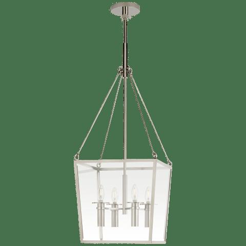 Cochere Medium Lantern in Polished Nickel