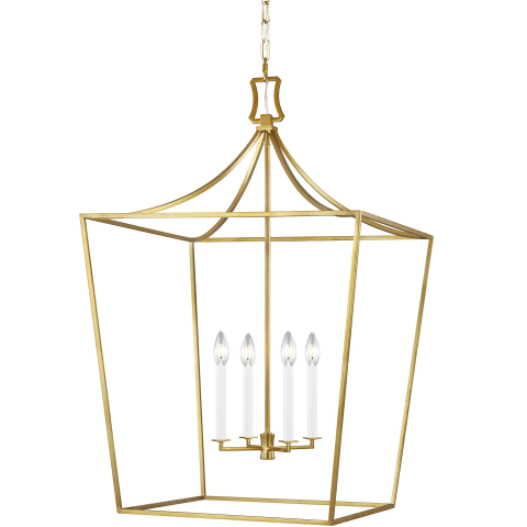 Southold 4 - Light Lantern Burnished Brass