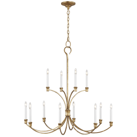 Westerly 12 - Light Chandelier Antique Gild