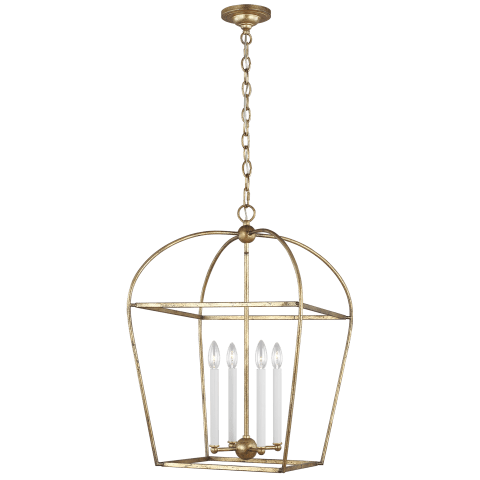 Stonington Medium Lantern Antique Gild