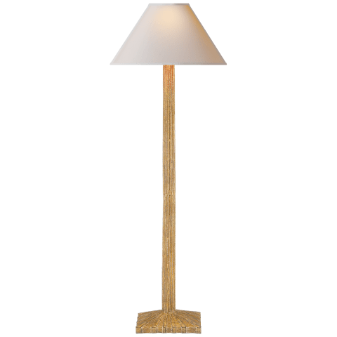 Strie Buffet Lamp in Gild with Natural Paper Shade