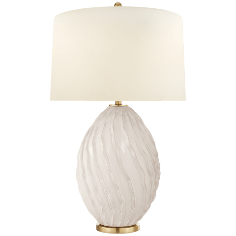Dianthus Large Table Lamp in Ivory with Natural Percale Shade