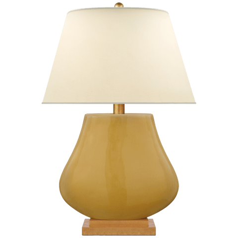 Taiping Table Lamp in Light Honey with Natural Percale Shade