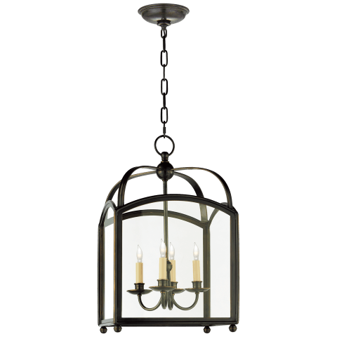 Arch Top Small Lantern in Bronze