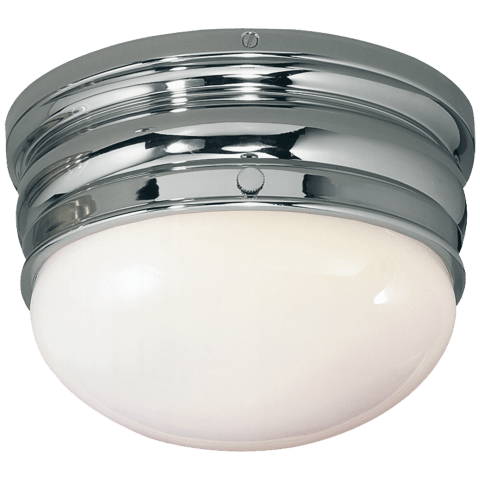 Crown Small Flush Mount in Polished Nickel