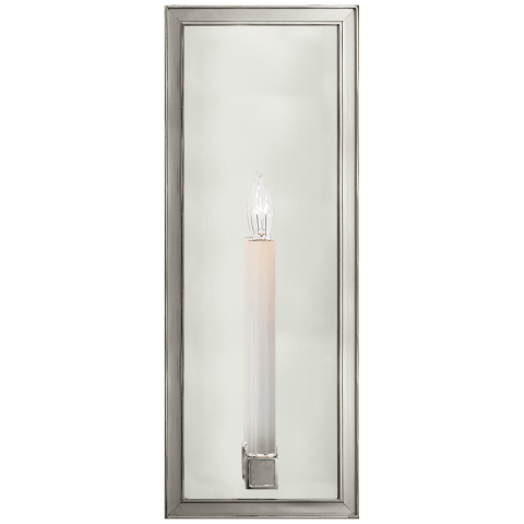 "Lund 16"" Single Sconce in Polished Nickel with Mirror"